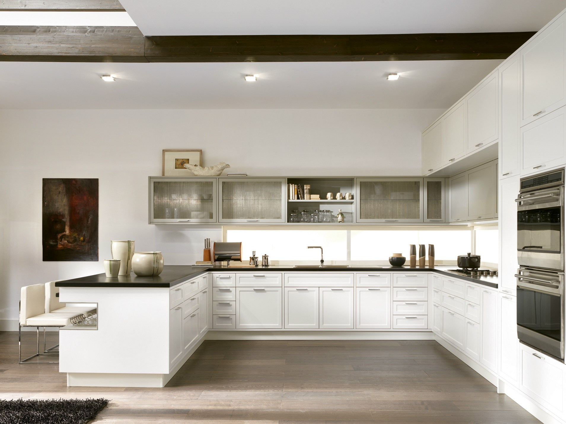 Timeline cucina con penisola by aster cucine - Isola cucina stretta ...
