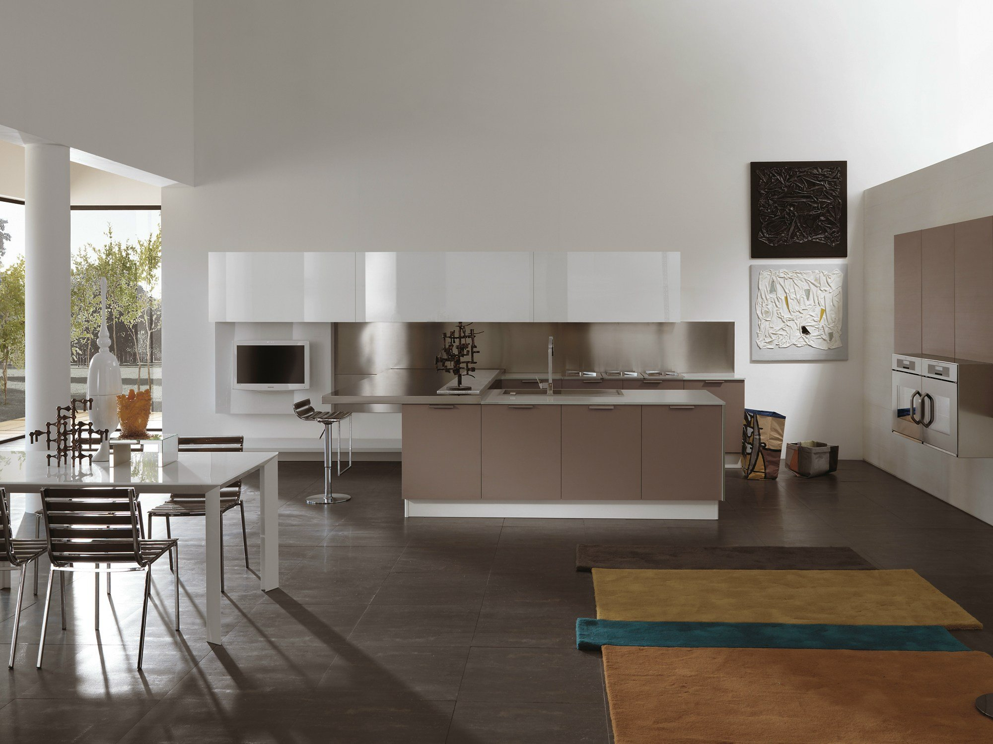 Atelier kitchen with peninsula by aster cucine - Cucine a penisola ...