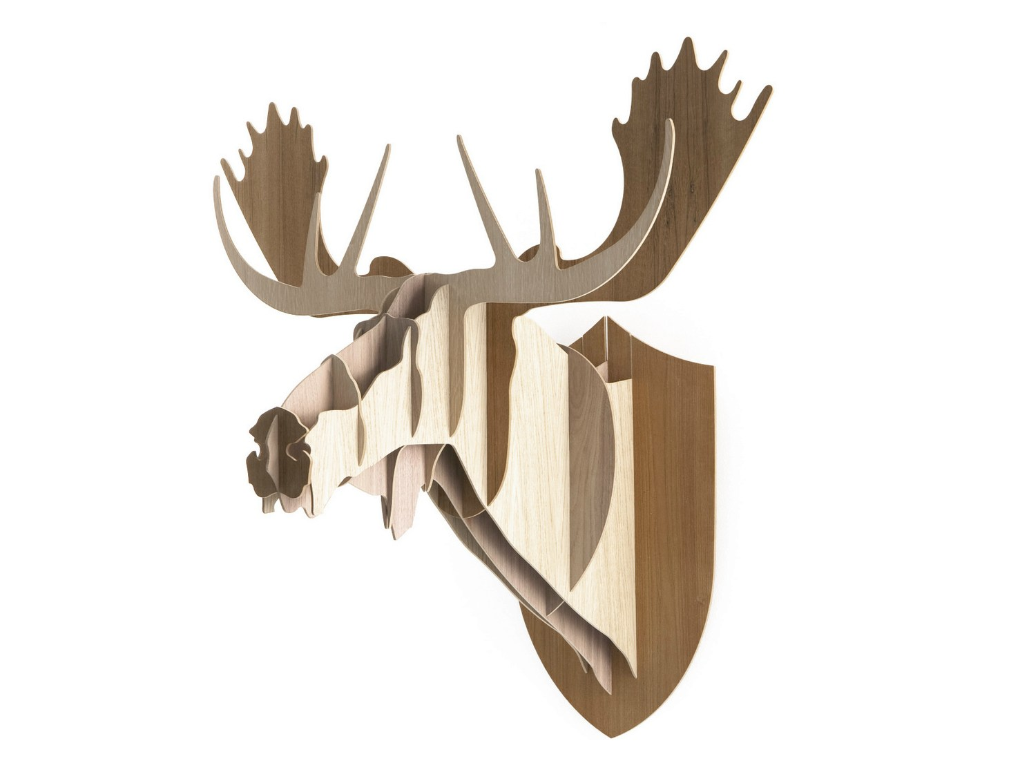 Wooden Wall Decor Item MOOSE By Moustache Design BigGame - Moose wall decor