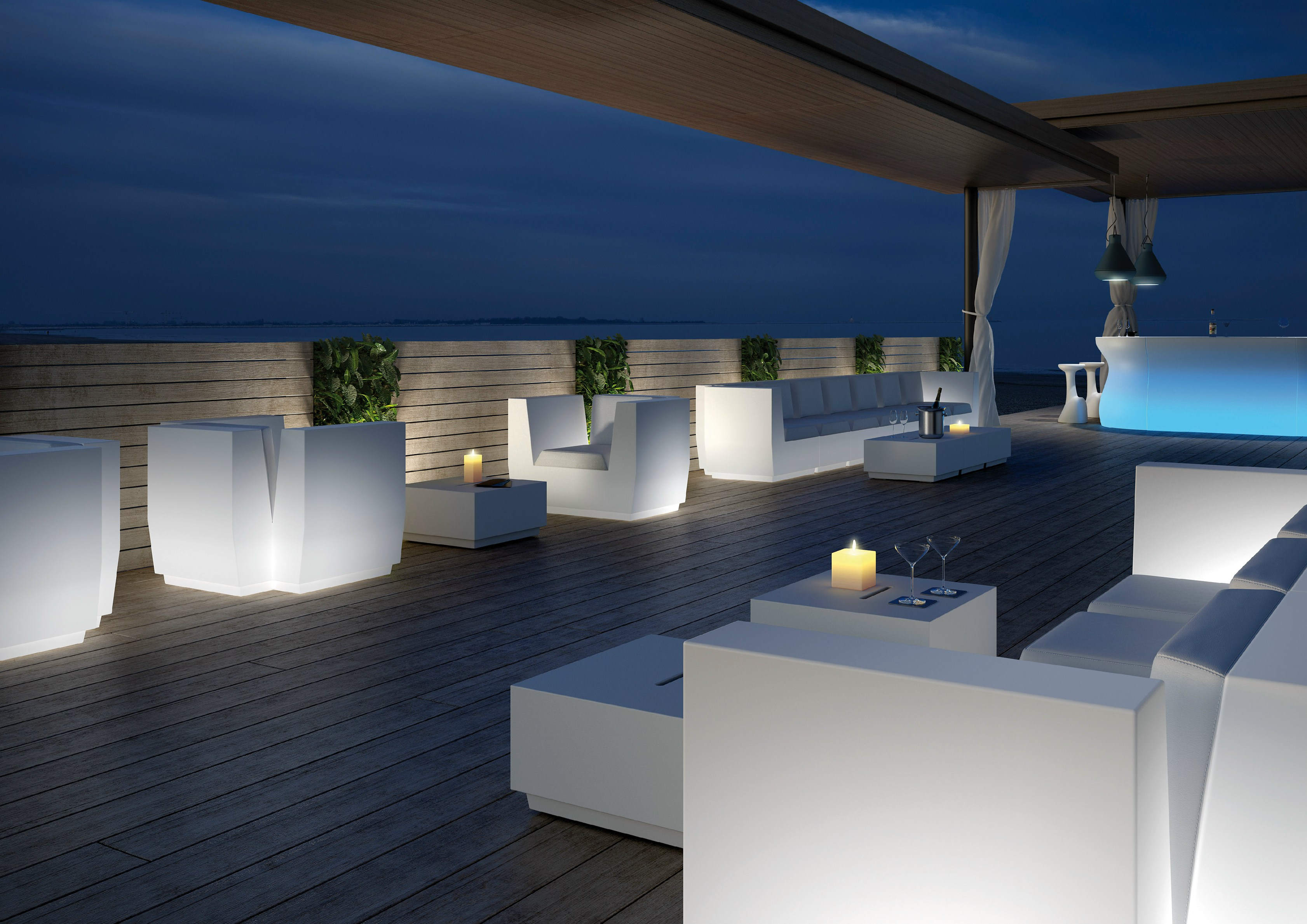 Big cut armchair by plust collection by euro3plast design for Eclairage led exterieur terrasse