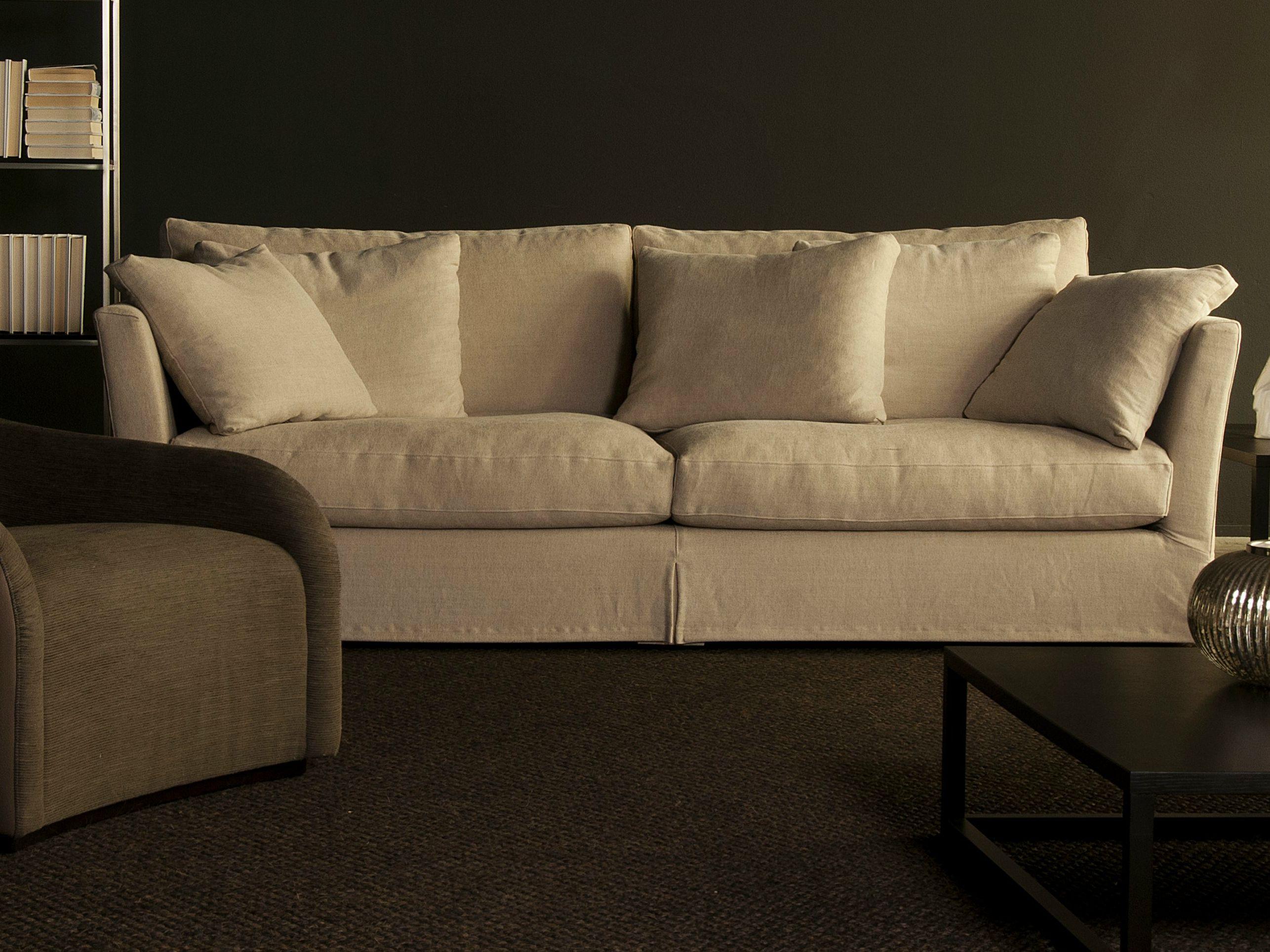Sof composable modular de tela bellagio by giulio marelli - Telas para cubrir sofa ...