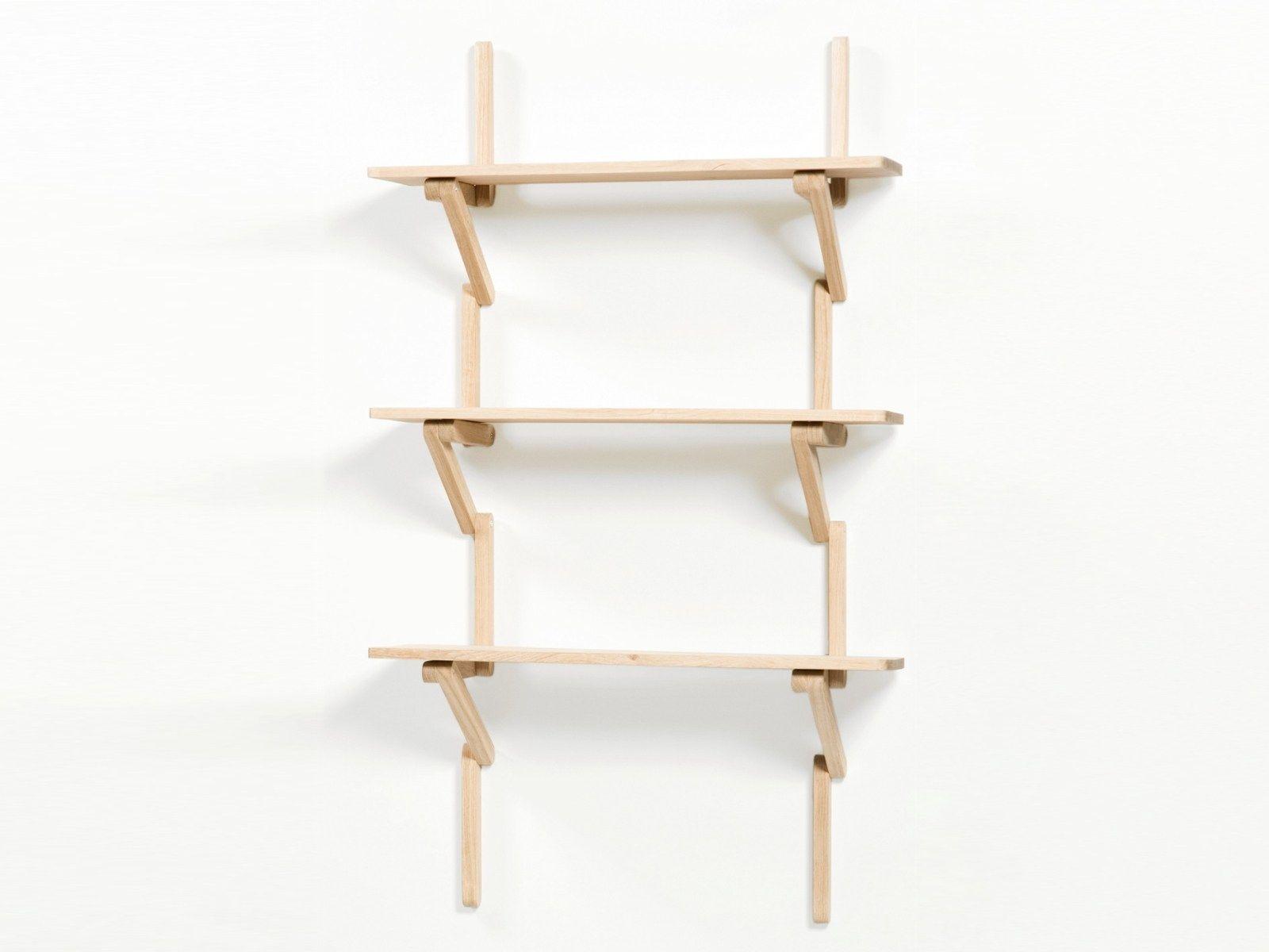 wand b cherregal aus buche m tre by moustache design fran ois azambourg. Black Bedroom Furniture Sets. Home Design Ideas