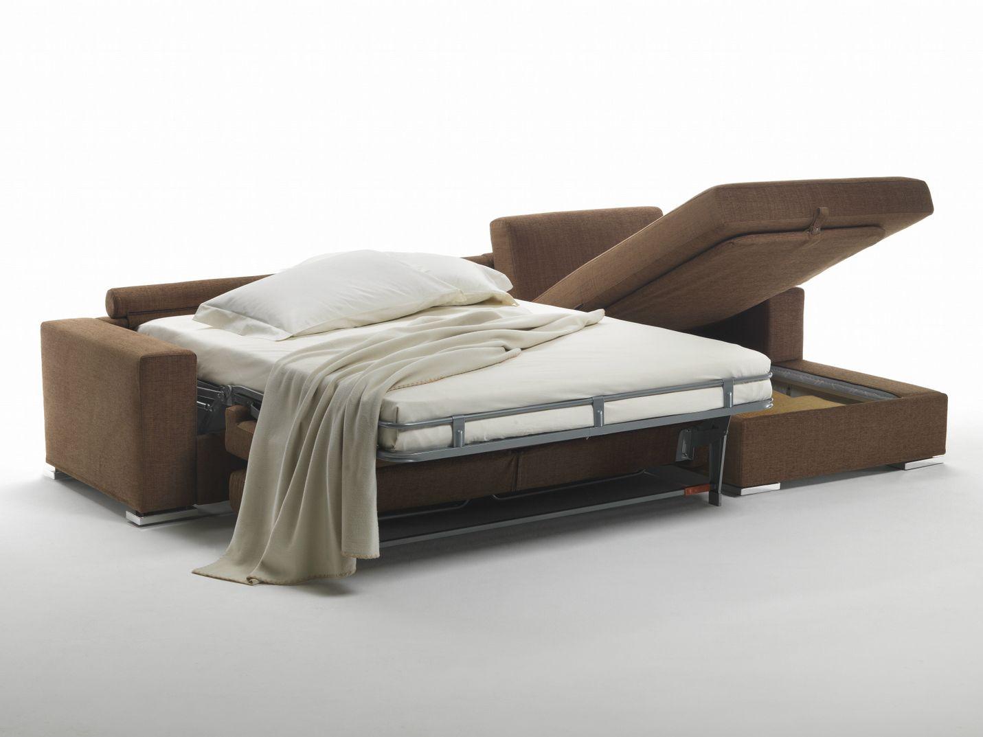 Plus divano letto in tessuto by giulio marelli italia design r d studio emme - Divano letto b b italia ...