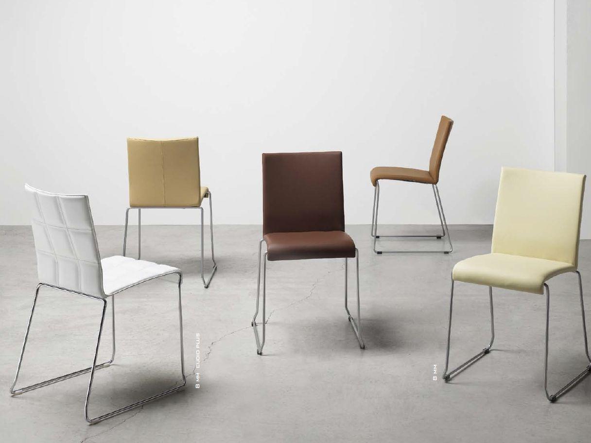 Chaise luge en cuir tann e avec accoudoirs 8 mm cuoio plus - Chaise en cuir design ...