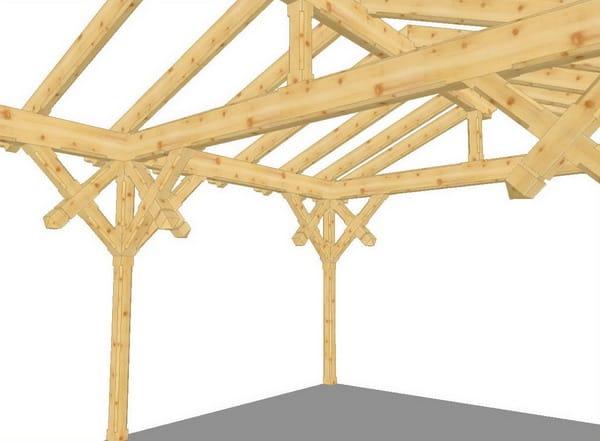 Progettazione strutture in legno arcon dhd vista tetti e for Particolari costruttivi capriata in legno