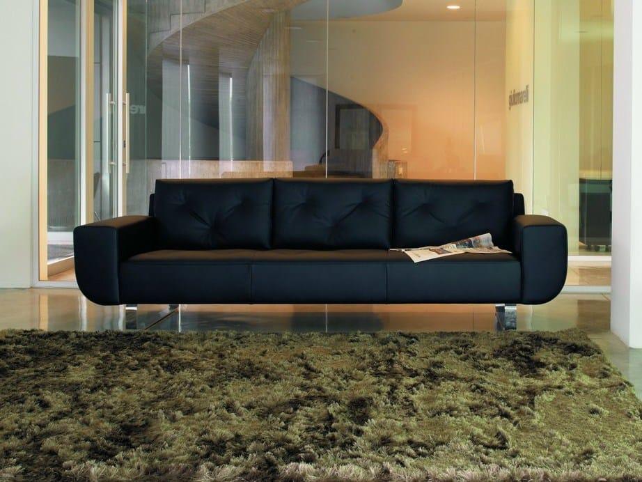 4 Seater Leather Sofa Bay Xl By Giulio Marelli Italia