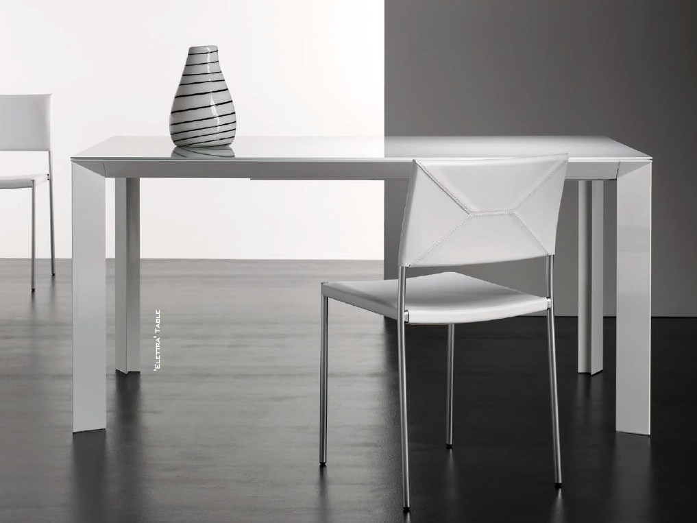 Tavolo allungabile rettangolare elettra by riccardo rivoli for Tavolo rettangolare design