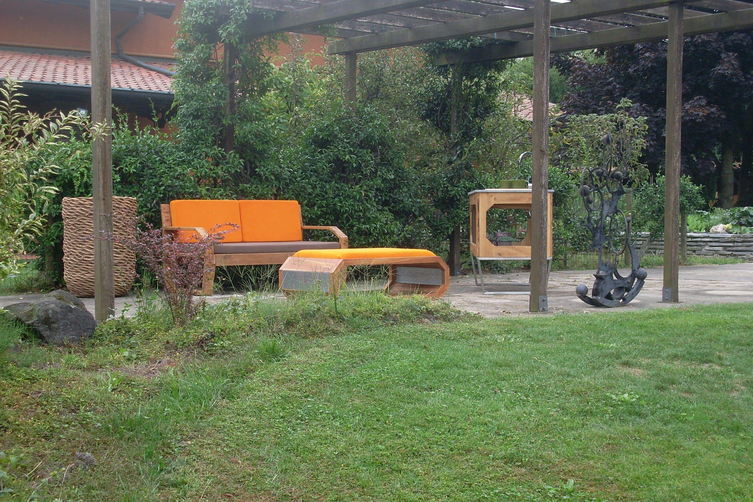 Sof 2 plazas de madera para jard n fabris mountain by for Sofas de madera para jardin