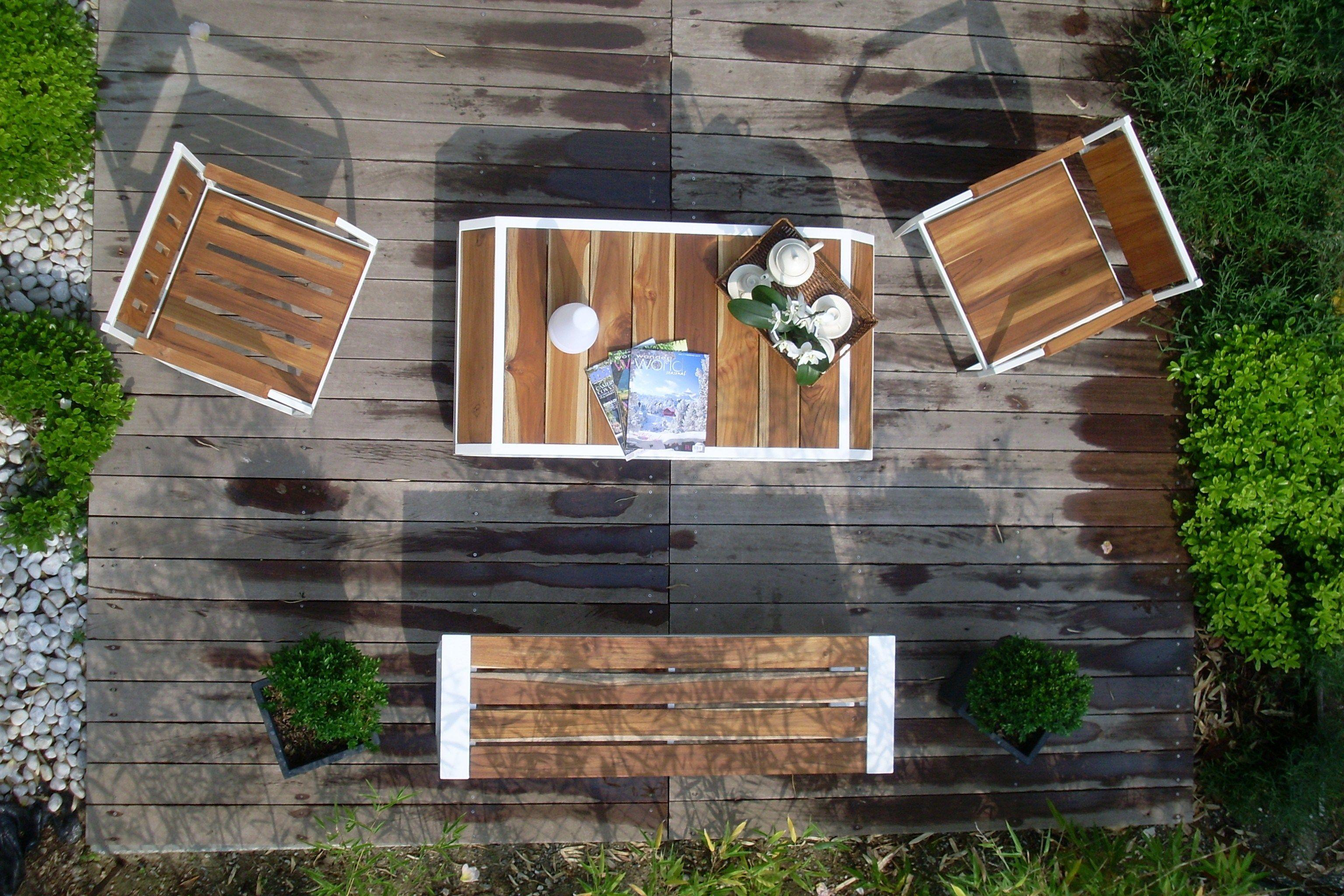 MARIN Sedia in acciaio e legno by Lgtek Outdoor design Michele Villa