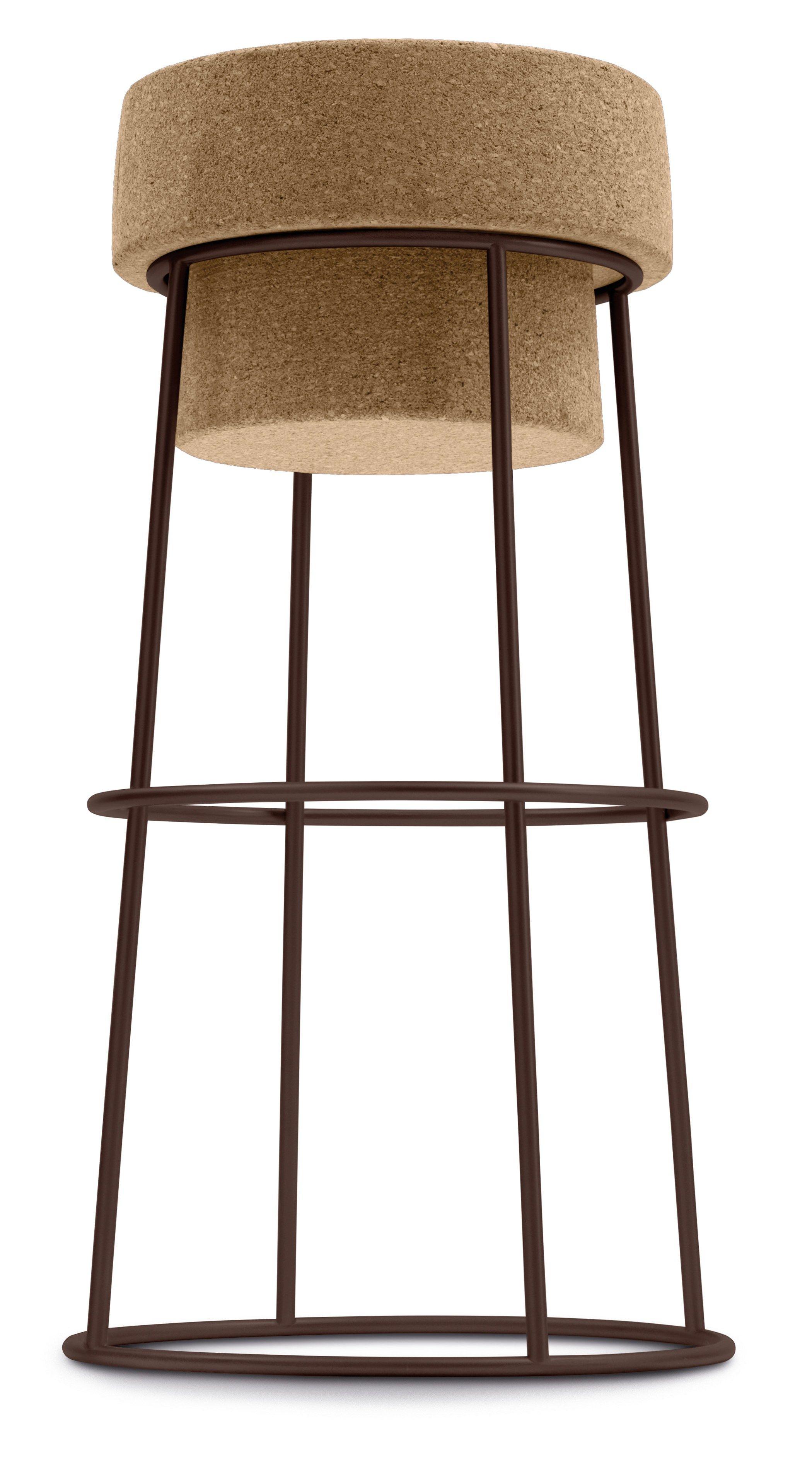 bouchon sga tabouret haut by domitalia design andrea radice folco orlandini design studio. Black Bedroom Furniture Sets. Home Design Ideas