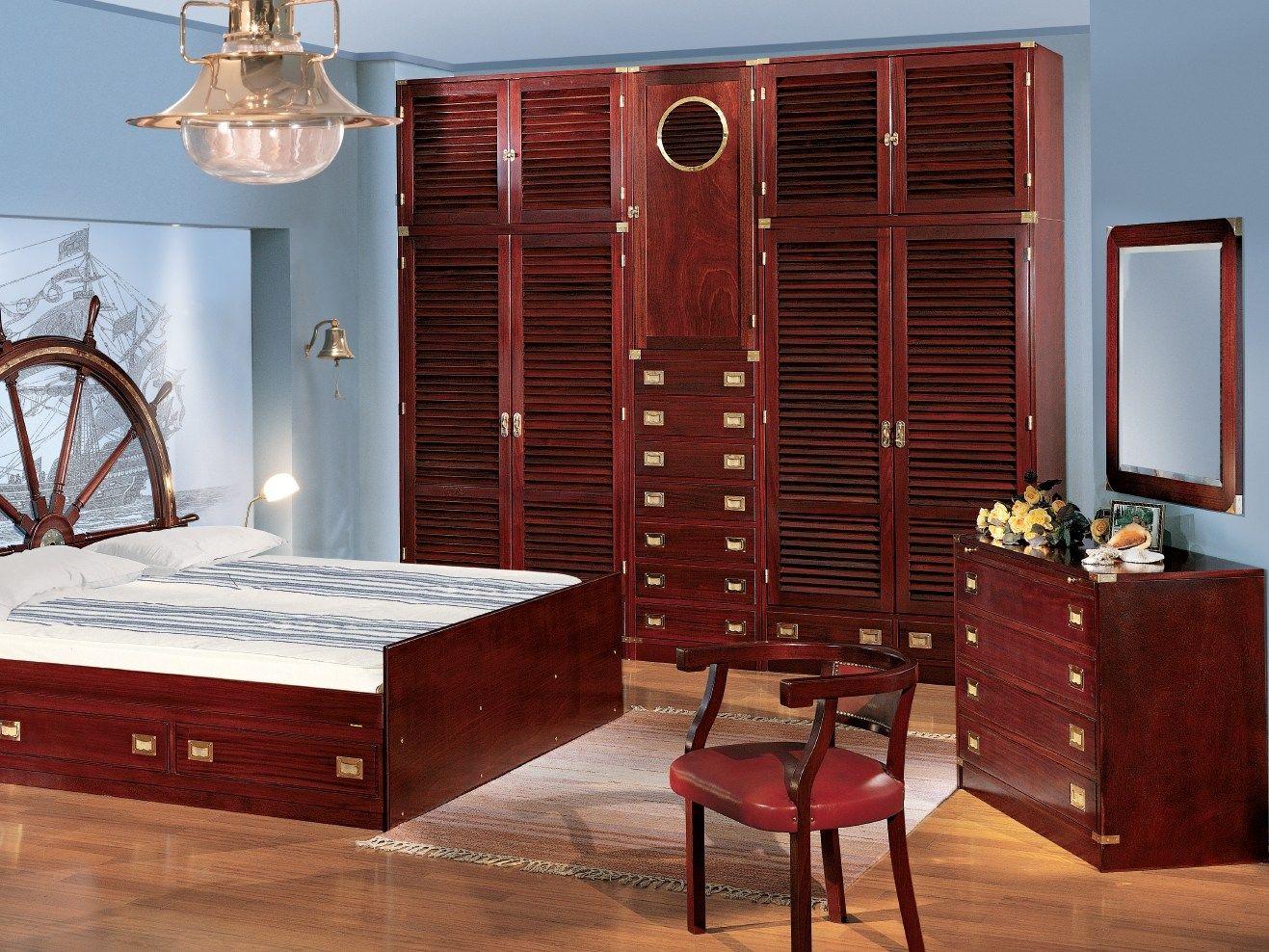 Camera da letto in legno 110 by caroti - Camera da letto marinara ...