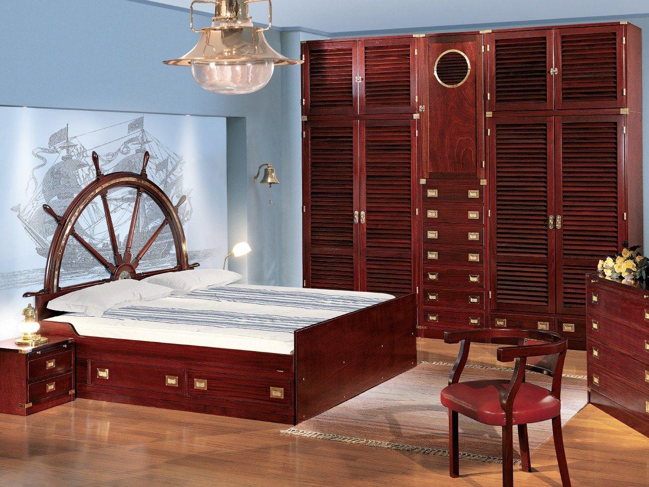 Camera da letto in legno 110 by caroti - Camera letto legno ...