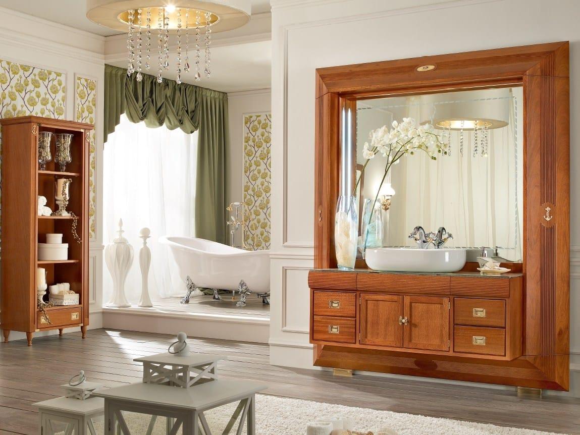 Frame arredo bagno completo by caroti for Arredo bagno in legno