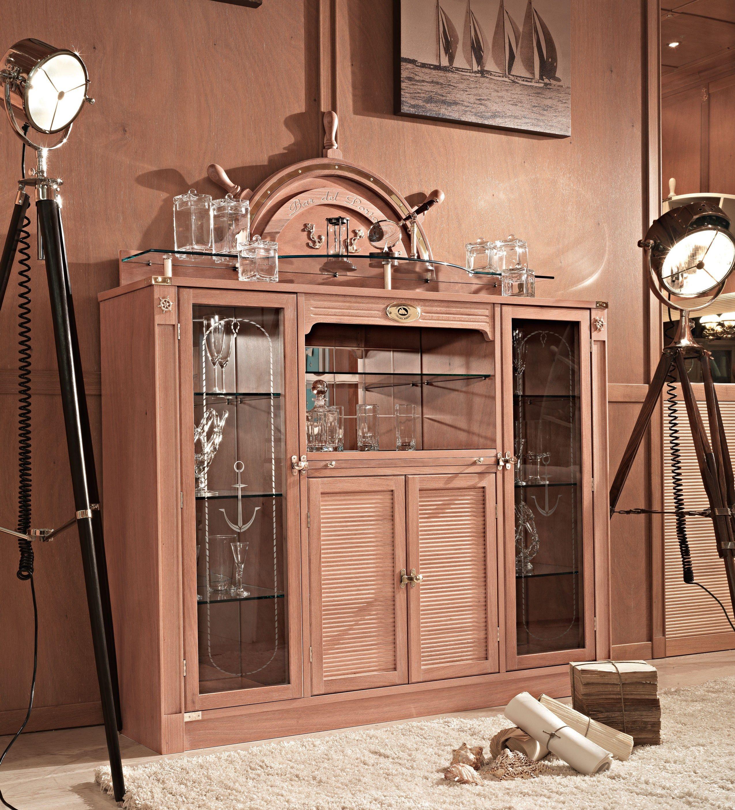 Mueble bar en madera y vidrio 712  PORT BAR  Caroti