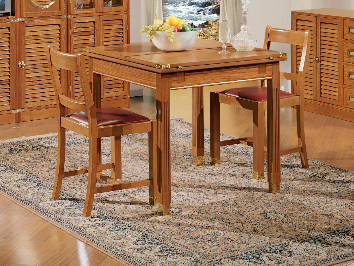 1004 tavolo allungabile by caroti for Tavolo legno quadrato