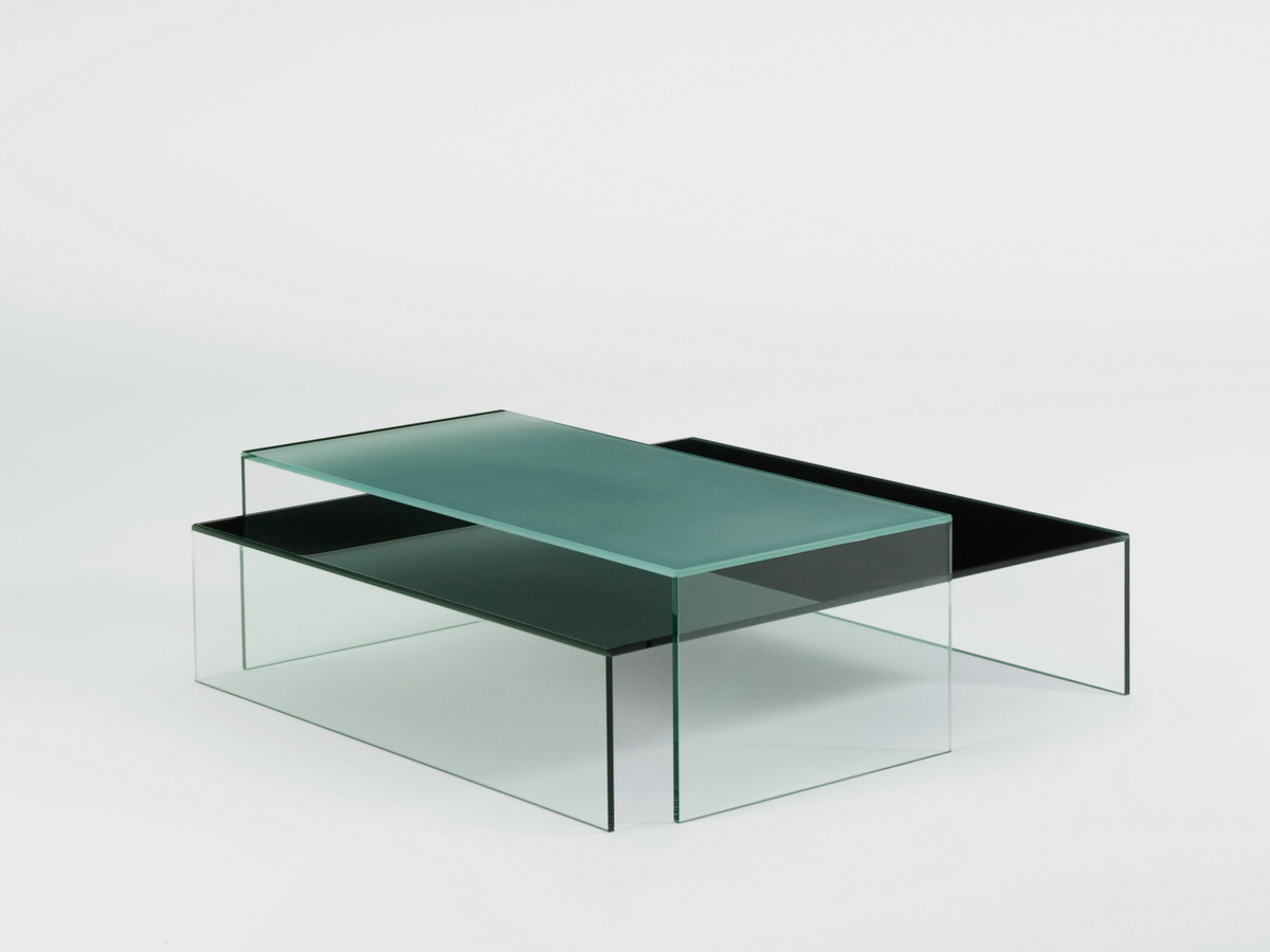 Low Rectangular Glass Coffee Table Pool Collection By Bensen