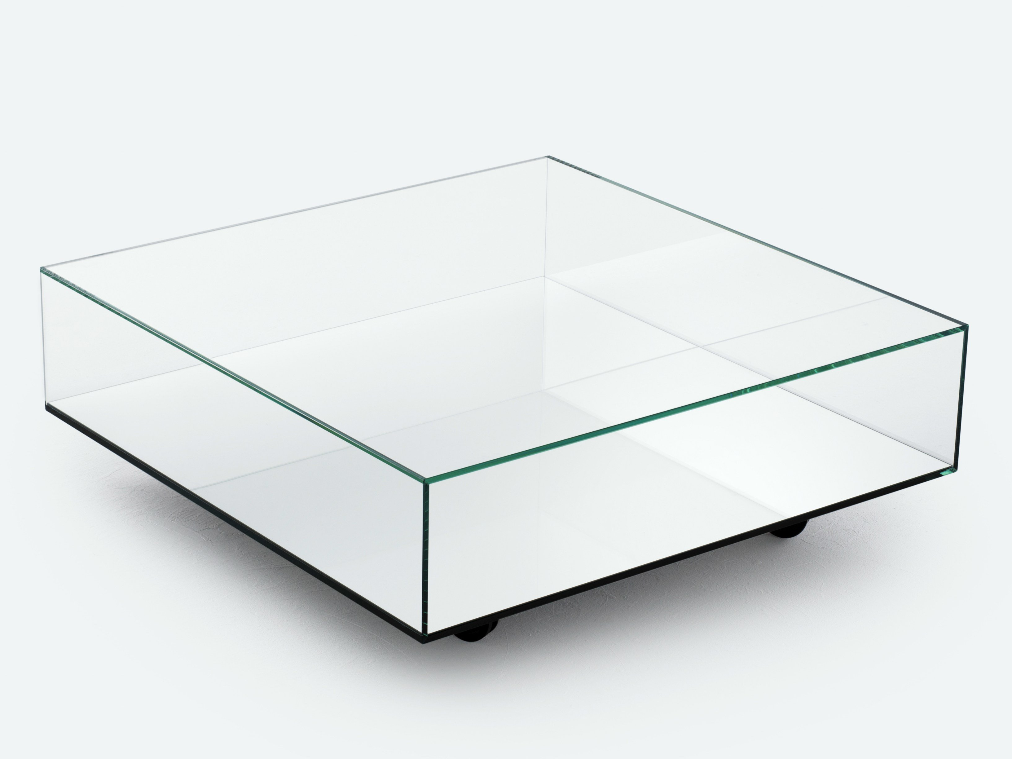 Low mirrored glass coffee table reflect by bensen Coffee tables glass