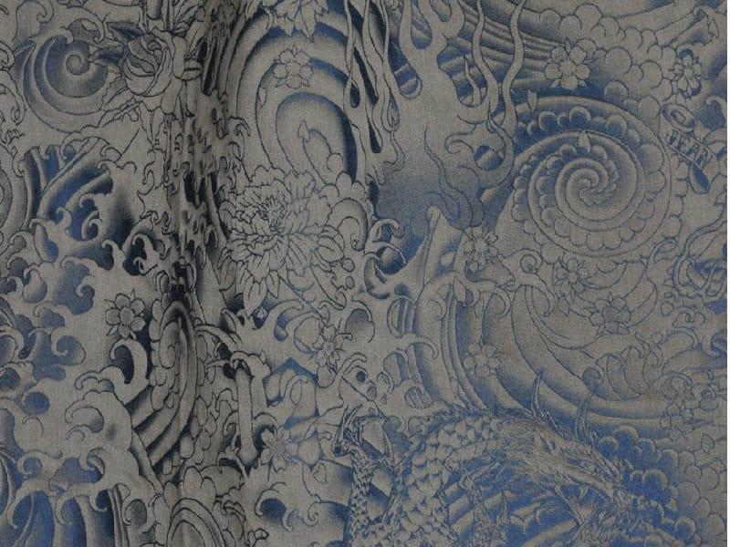 tissu d 39 ameublement damass en coton komodo collection ca. Black Bedroom Furniture Sets. Home Design Ideas