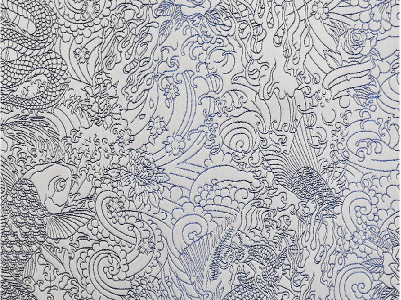 Tissu d 39 ameublement en coton skin by lelievre design jean paul gaultier - Lelievre tissu ameublement ...