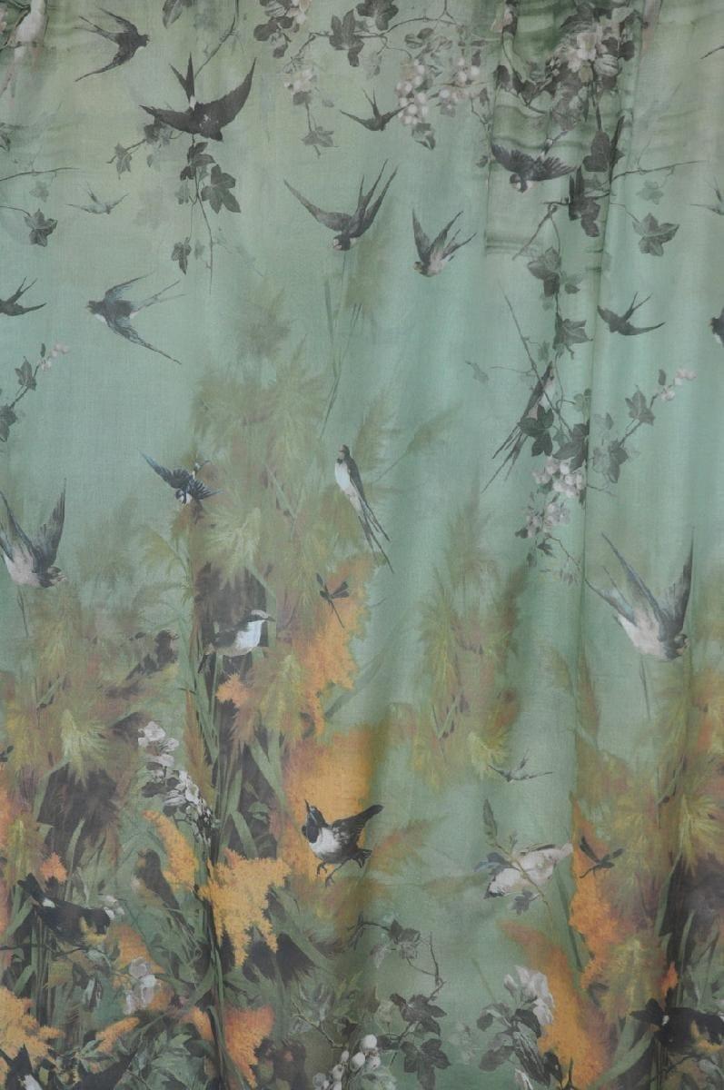 bedruckter stoff aus baumwolle f r gardinen saisons by lelievre design jean paul gaultier. Black Bedroom Furniture Sets. Home Design Ideas