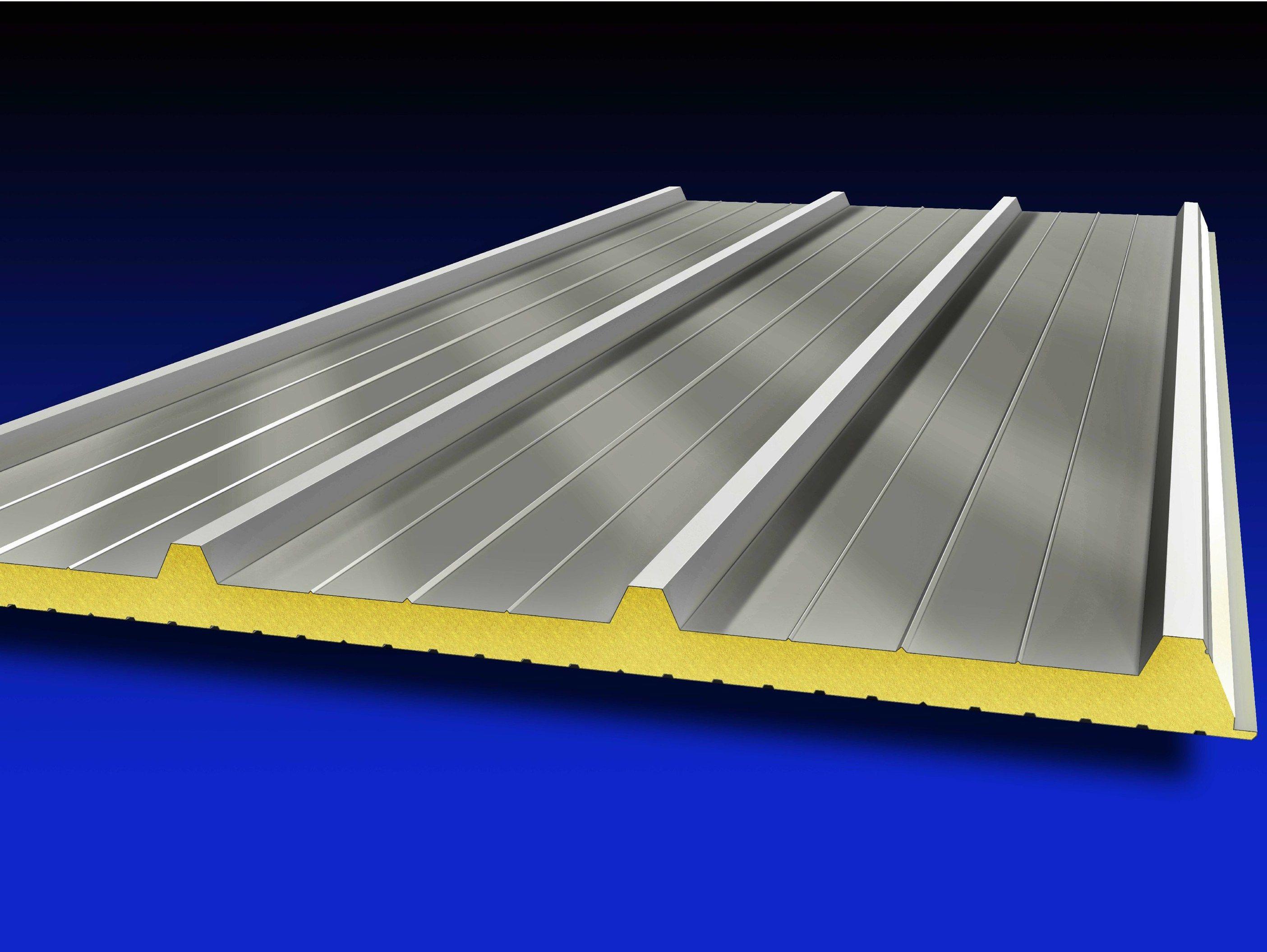 Pannello metallico coibentato per copertura isometal 4g for Lamiera grecata finto coppo