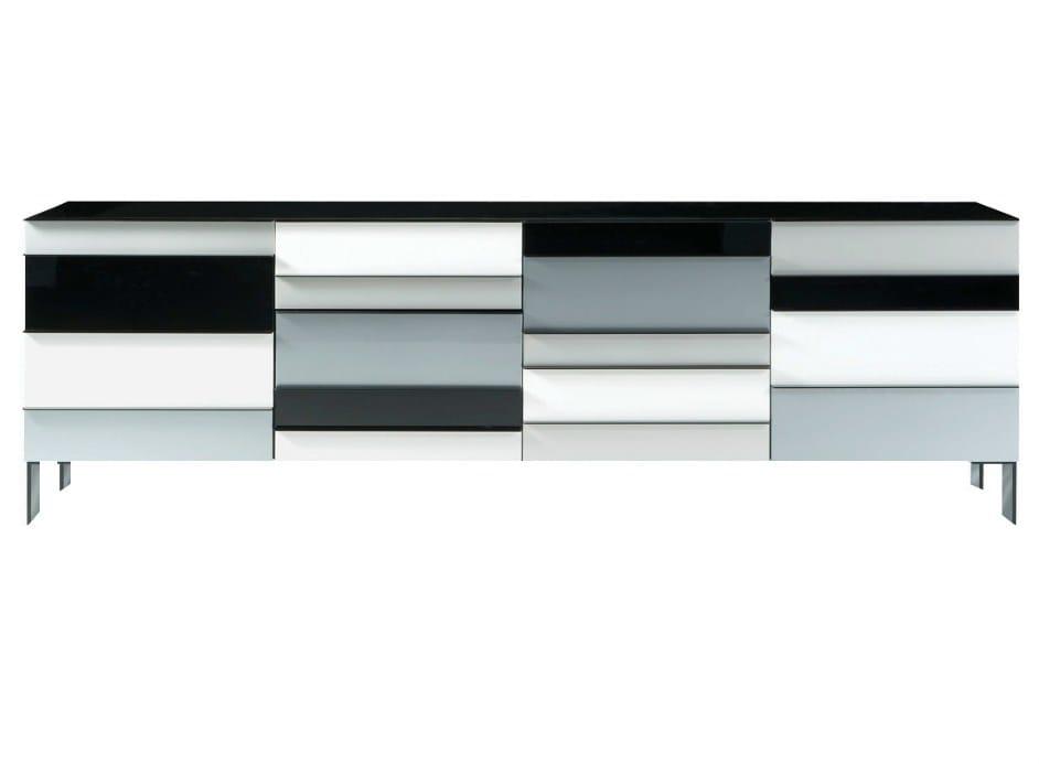 Buffet laqu e avec tiroirs colors collection les contemporains by roche boboi - Buffet contemporain roche bobois ...