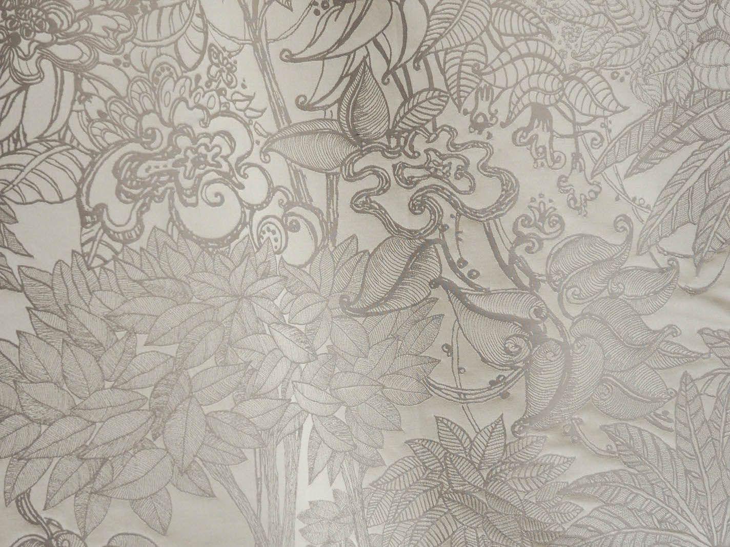 blumen damast stoff aus baumwolle jardin d 39 eden by lelievre design jean boggio. Black Bedroom Furniture Sets. Home Design Ideas