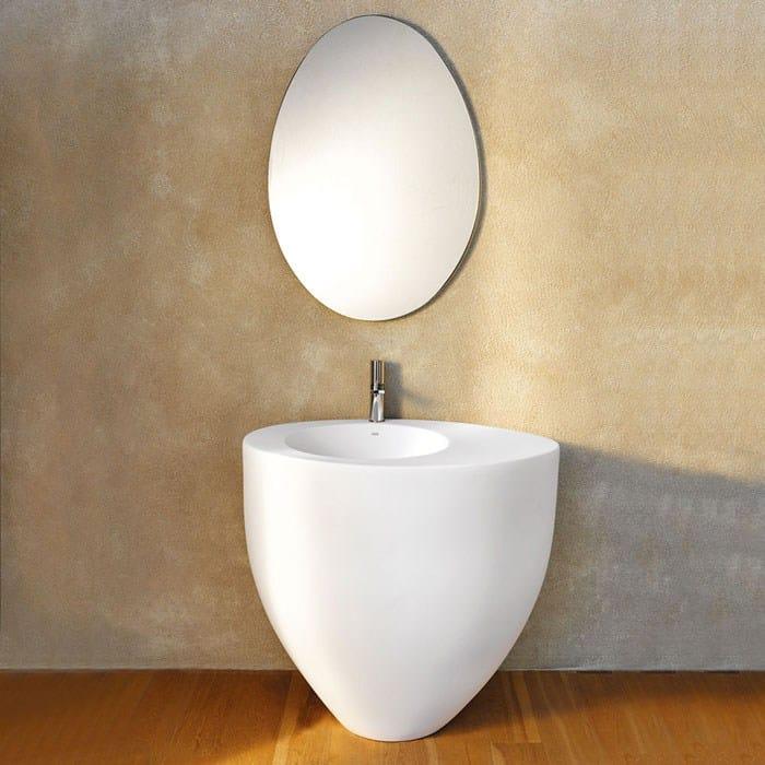 Specchio bagno collezione le giare by ceramica cielo design claudio silvestrin - Specchio ovale bagno ...