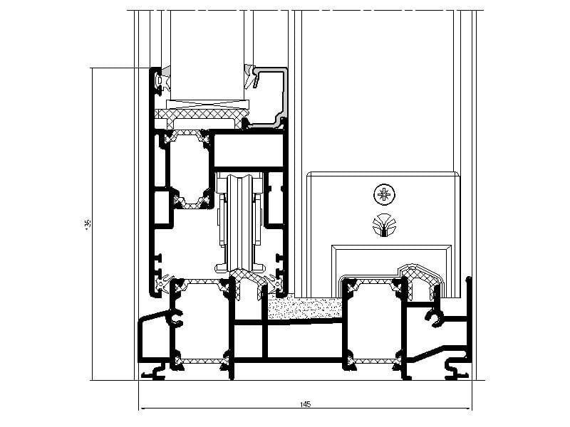Finestra a taglio termico scorrevole in alluminio nc s 150 - Dimensioni finestre scorrevoli ...