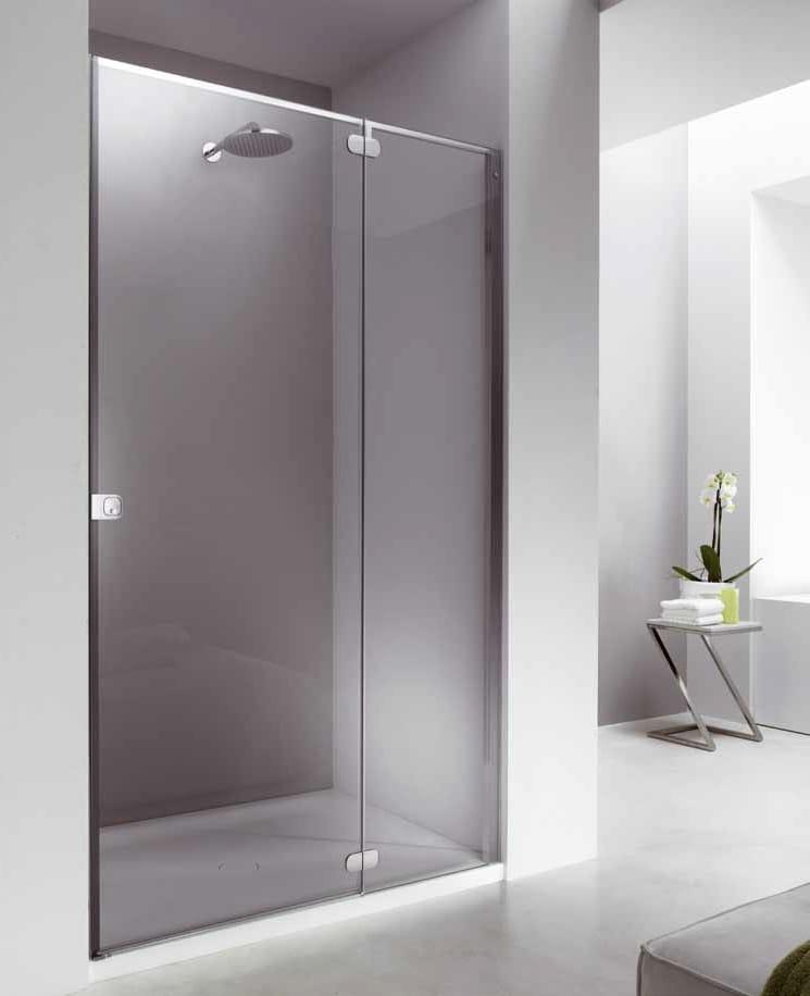 Cabina de ducha en nicho de vidrio FLAT FN + FB by Provex Industrie diseño Talocci Design