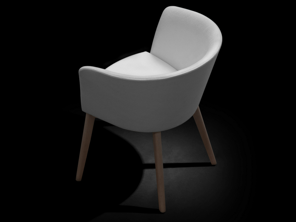 UPHOLSTERED WOODEN CHAIR MOON BOLD COLLECTION BY CAPDELL