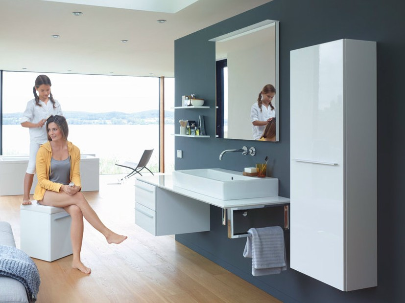 x large bathroom mirror by duravit design sieger design. Black Bedroom Furniture Sets. Home Design Ideas