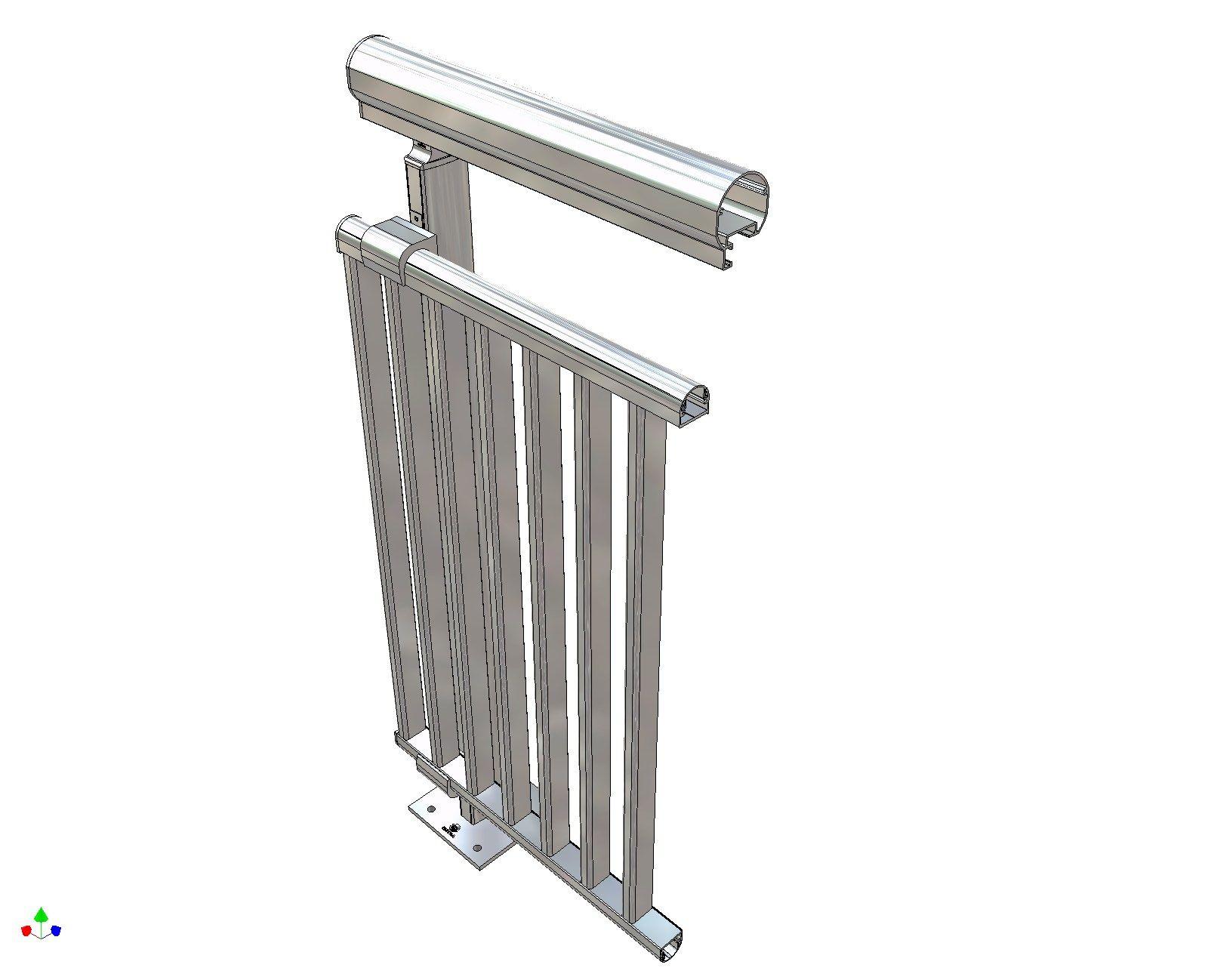 Garde corps en aluminium et verre pour terrasse balcon - Garde corps en aluminium pour terrasse ...