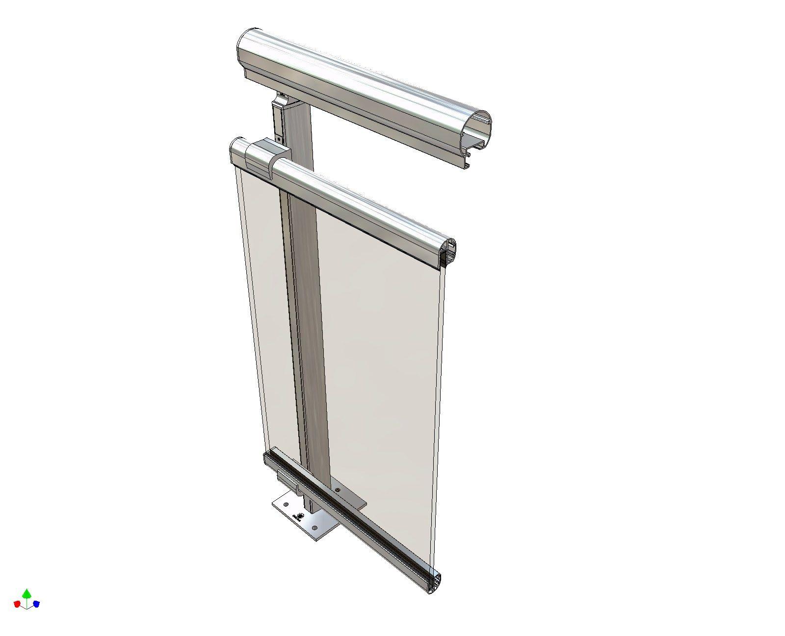 garde corps en aluminium et verre pour terrasse balcon theatron by metra. Black Bedroom Furniture Sets. Home Design Ideas