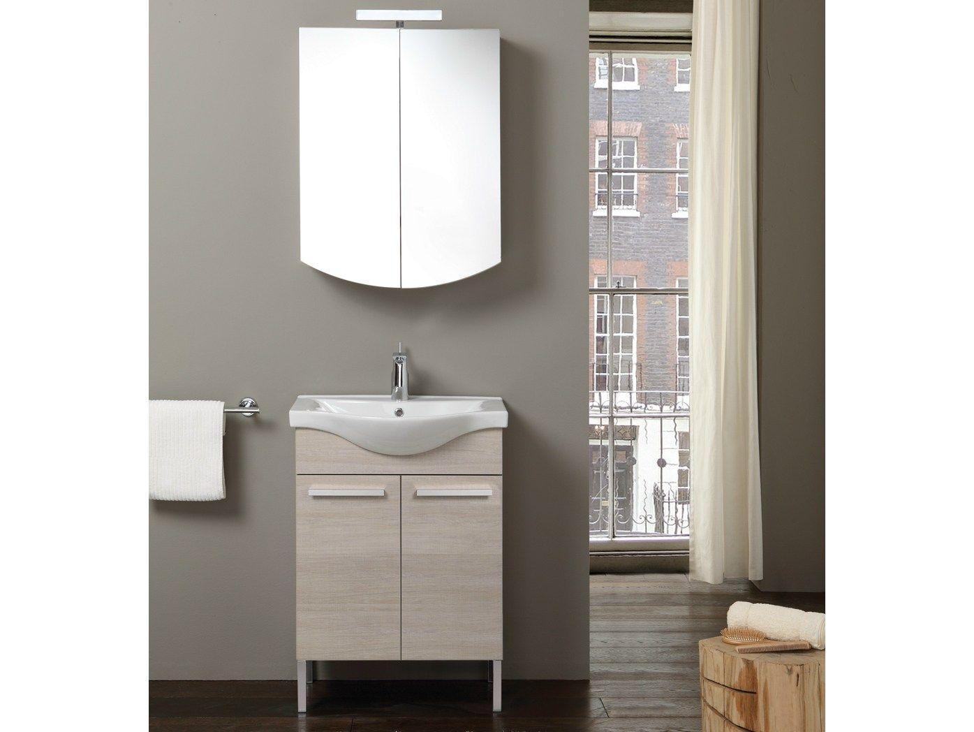 Meuble sous vasque en bois avec miroir tribeca 7 for Miroir urban