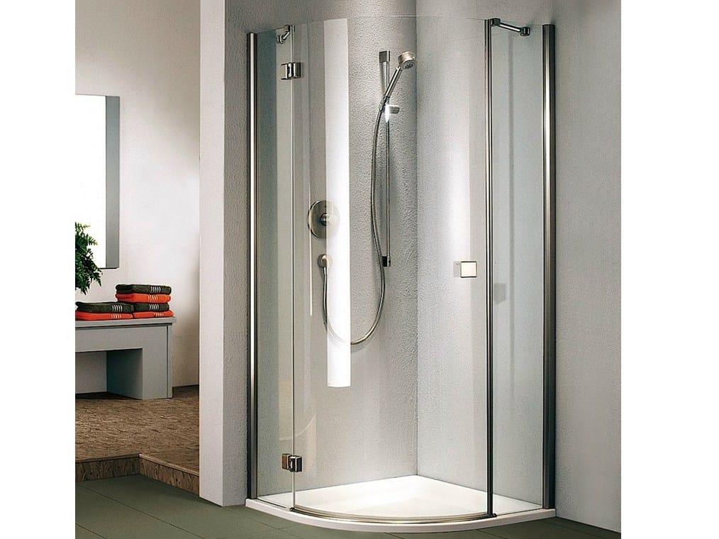 cabine de douche d 39 angle en cristal avec porte battante stila 5000 collection vertica by duka. Black Bedroom Furniture Sets. Home Design Ideas