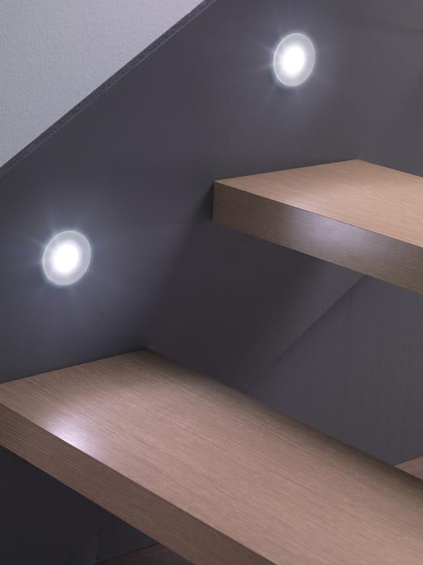 Faretto / segnapasso in alluminio e vetro STILE NEXT 60T by Lombardo ...