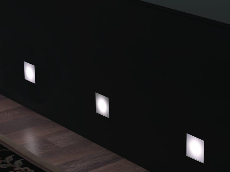 segnapasso a led a luce diretta stile next 60q by lombardo