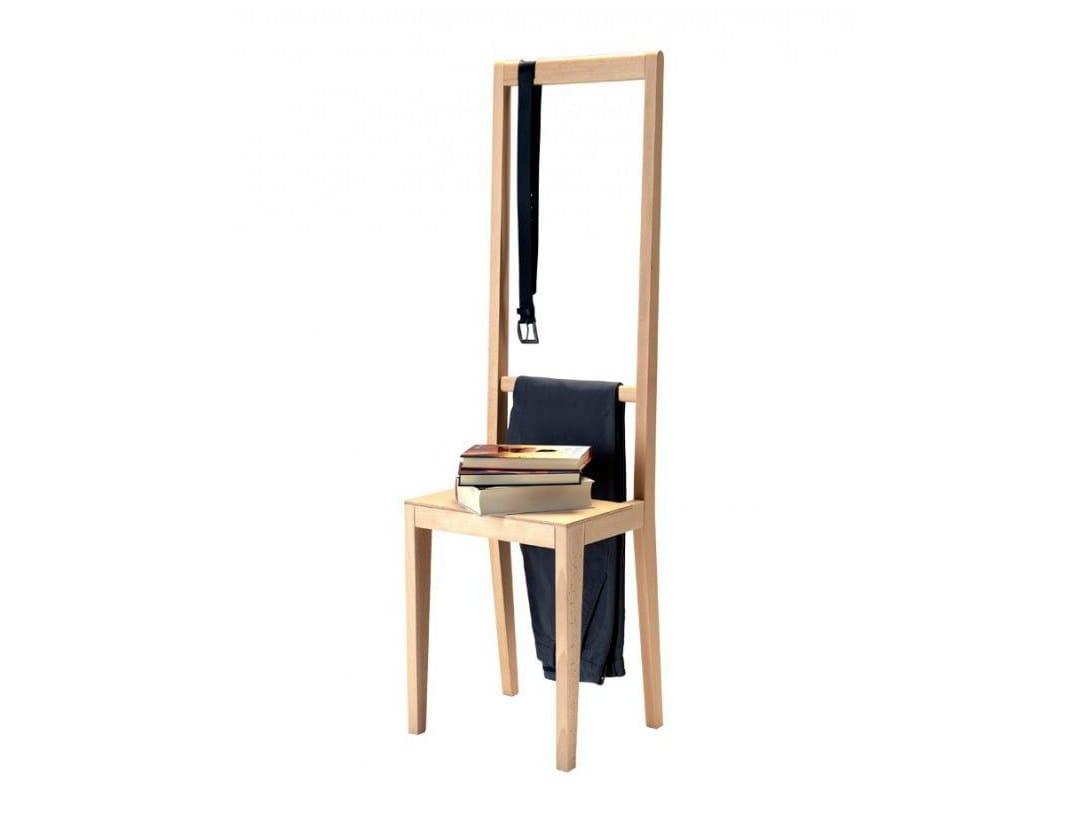 Chaise porte manteau en bois alfred collection not for Porte manteau contemporain bois