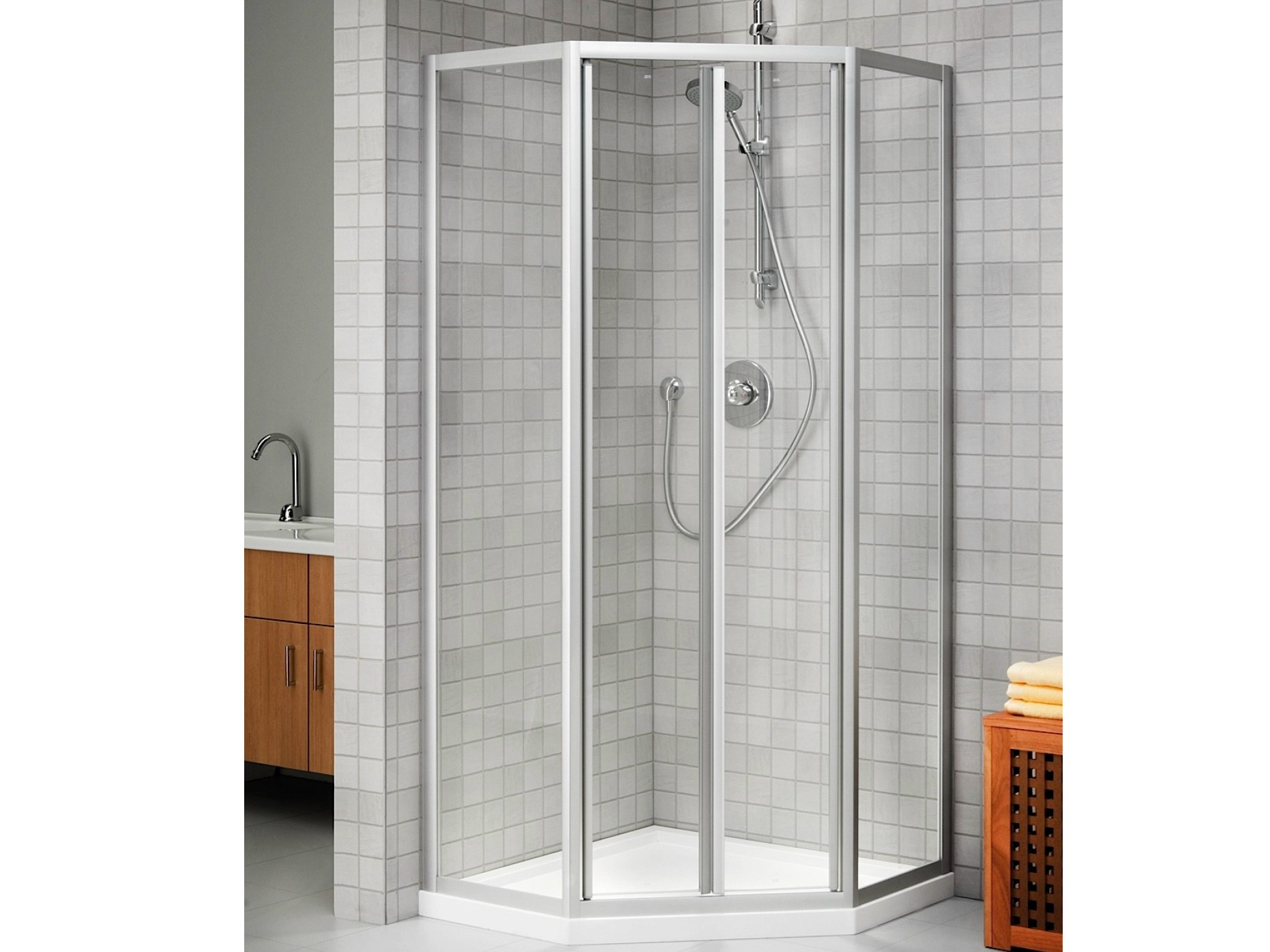 cabine de douche d 39 angle en cristal prima glass 2000. Black Bedroom Furniture Sets. Home Design Ideas