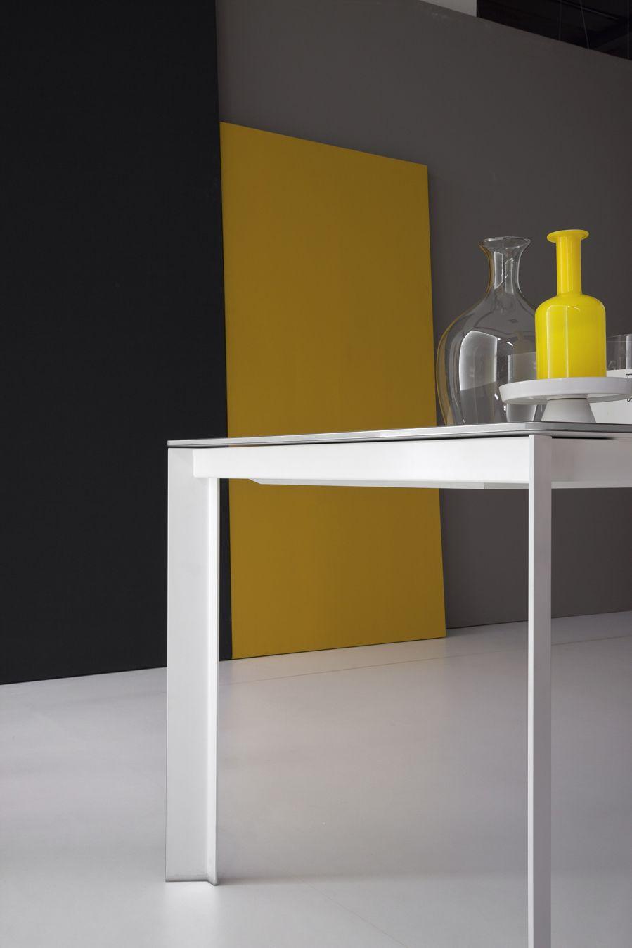 Tavolo allungabile rettangolare kime by bonaldo design for Tavolo rettangolare design