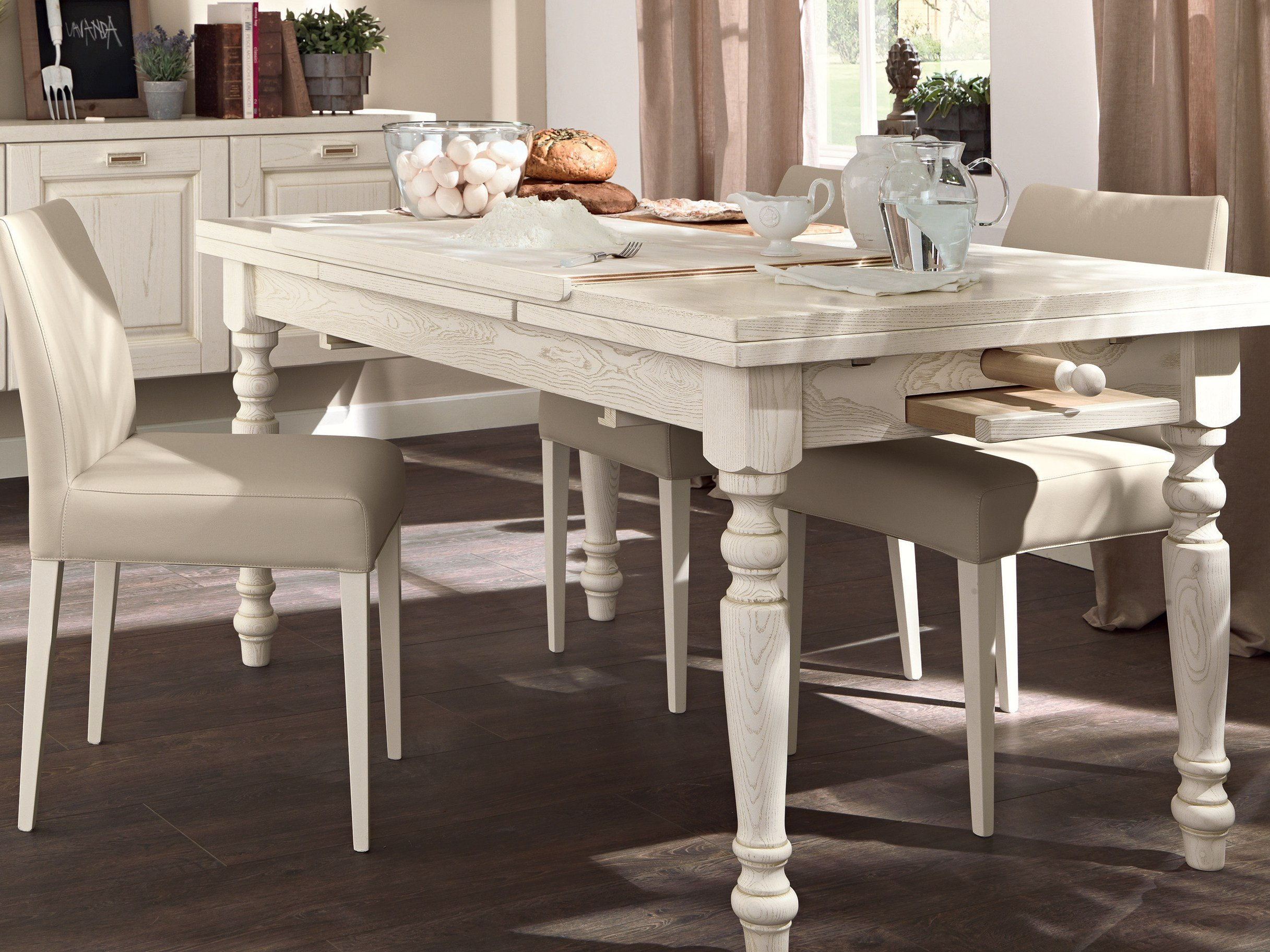 Tavolo allungabile da cucina in legno vecchia toscana by for Cerco tavolo da cucina allungabile