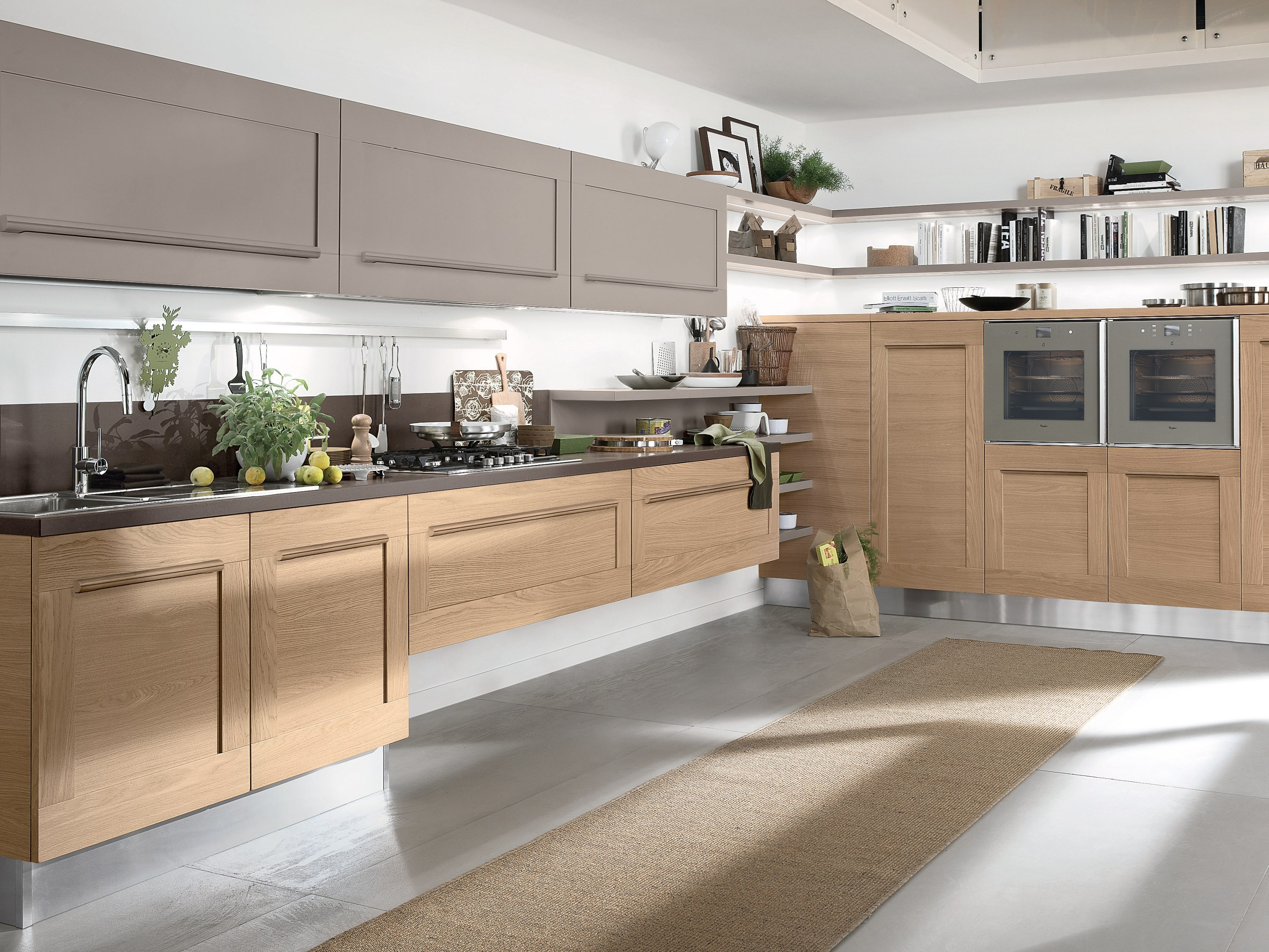 Gallery cucina con maniglie by cucine lube for Cucine sospese
