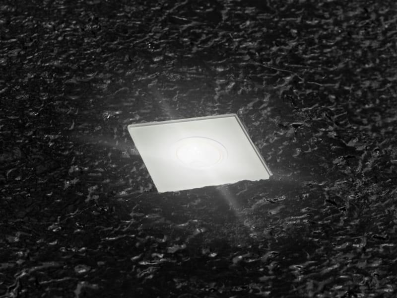 Faretto a led per pavimento stile next zero 60q by - Illuminazione a pavimento per esterni ...