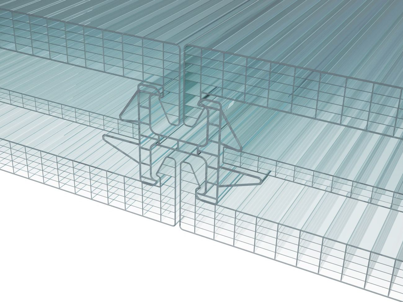 Continuous Facade System Polycarbonate Arcoplus 174 Double