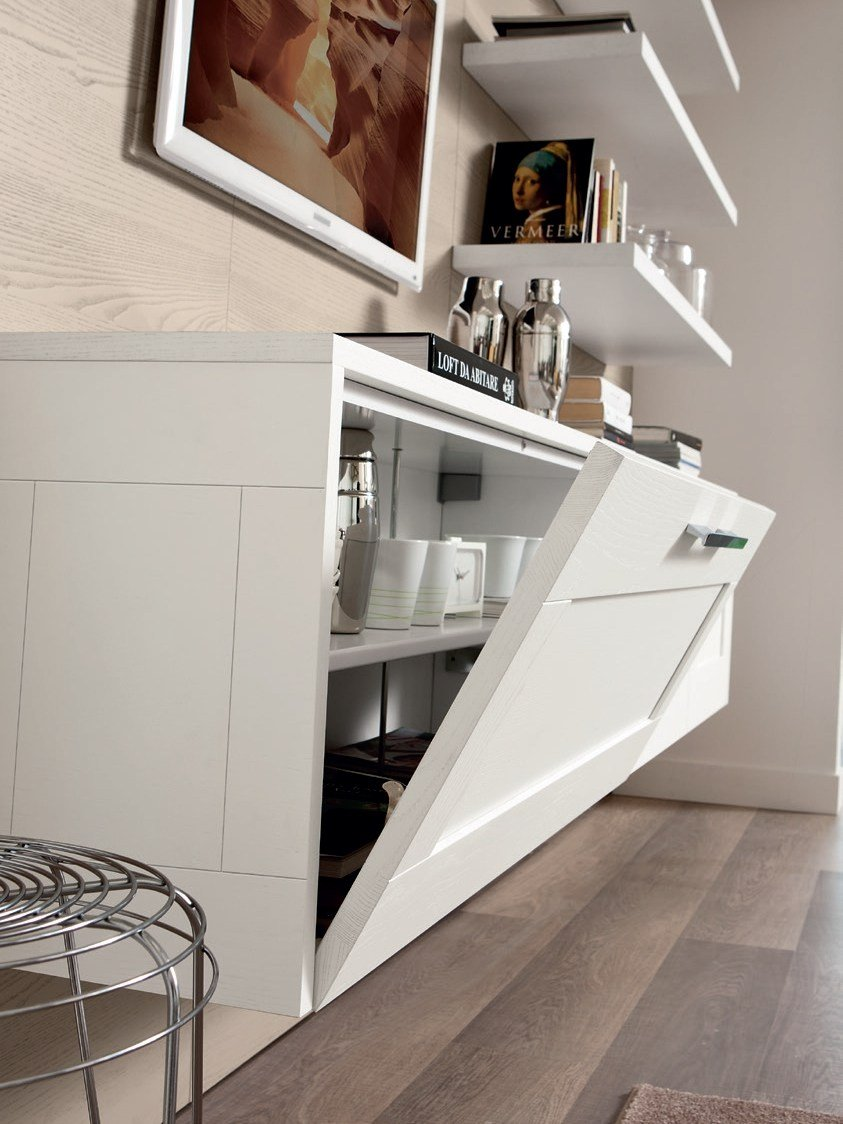 gallery ash storage wall by cucine lube