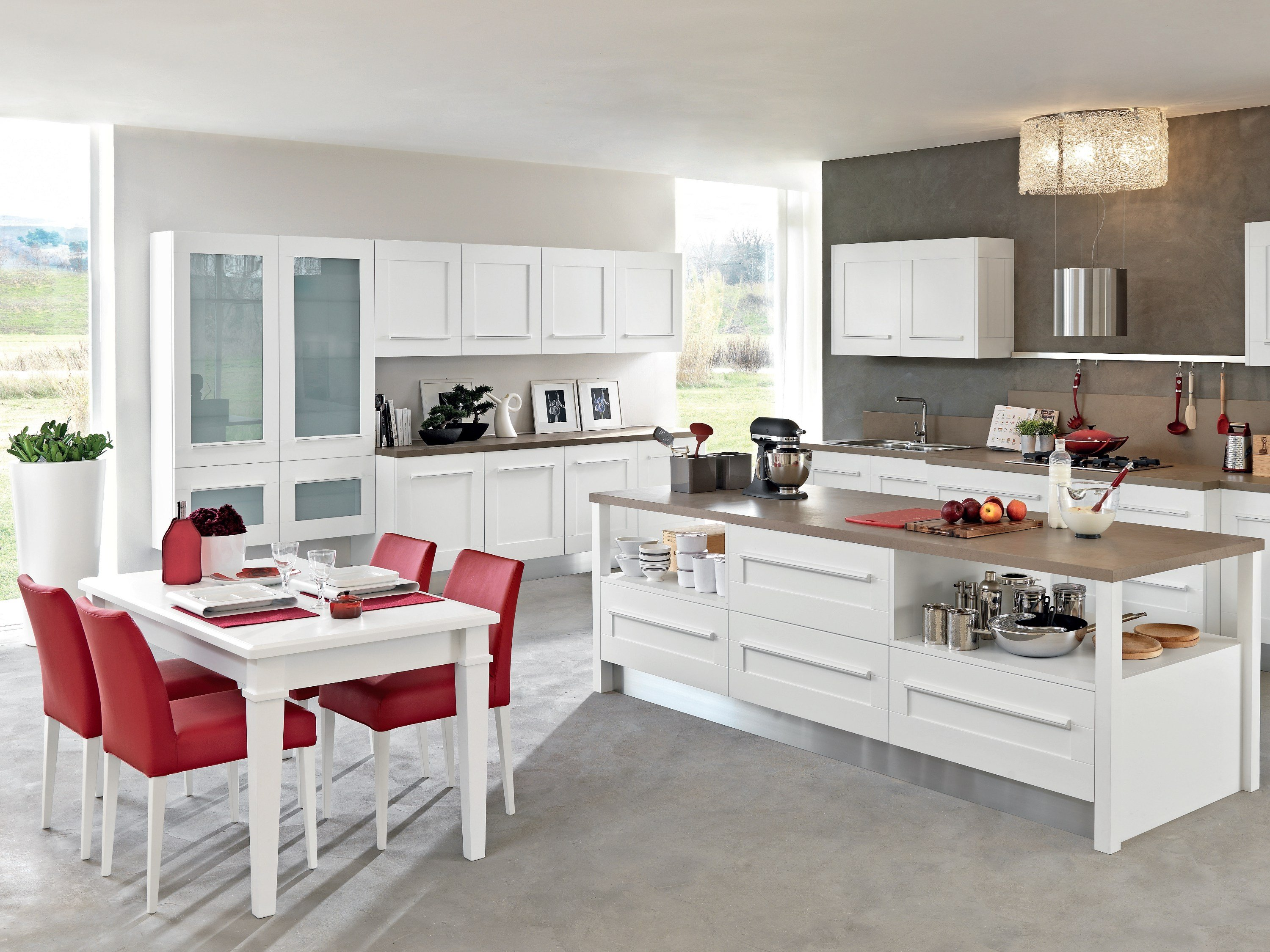 Gallery cucina con isola by cucine lube for Isola cucina