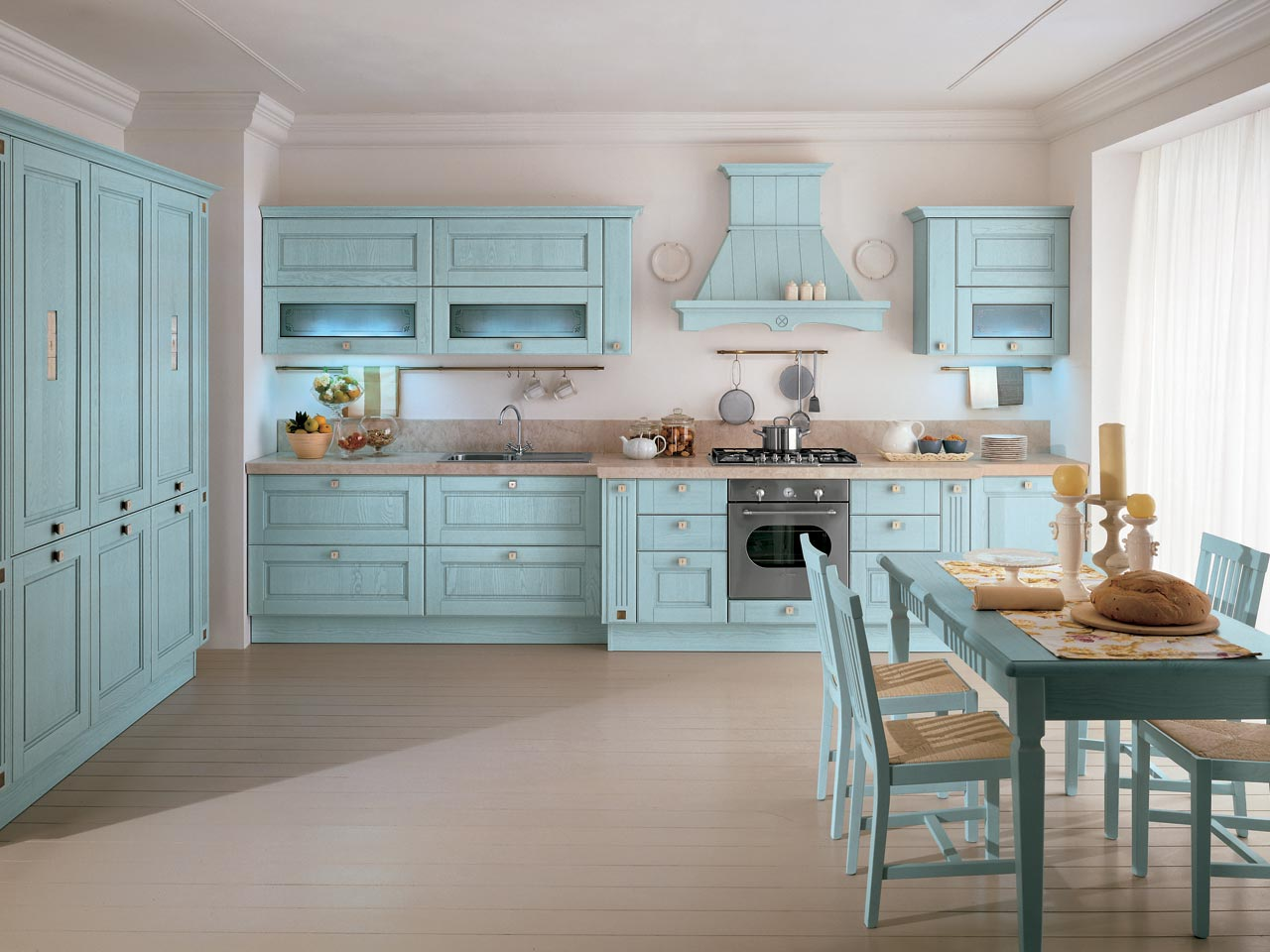 Agnese cucina decapata by cucine lube for Blue sky kitchen designs