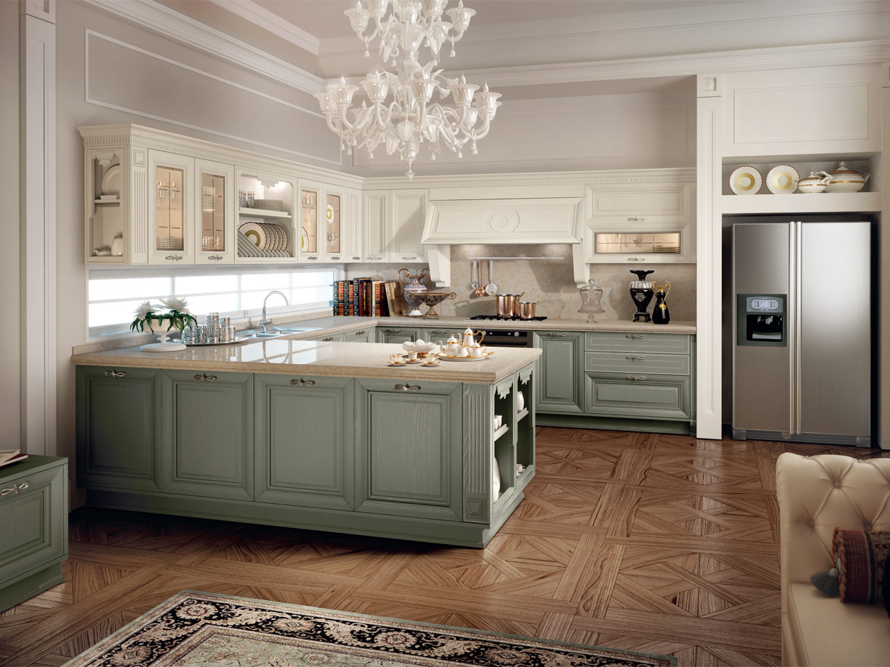 CUCINA DECAPATA COLLEZIONE PANTHEON BY CUCINE LUBE
