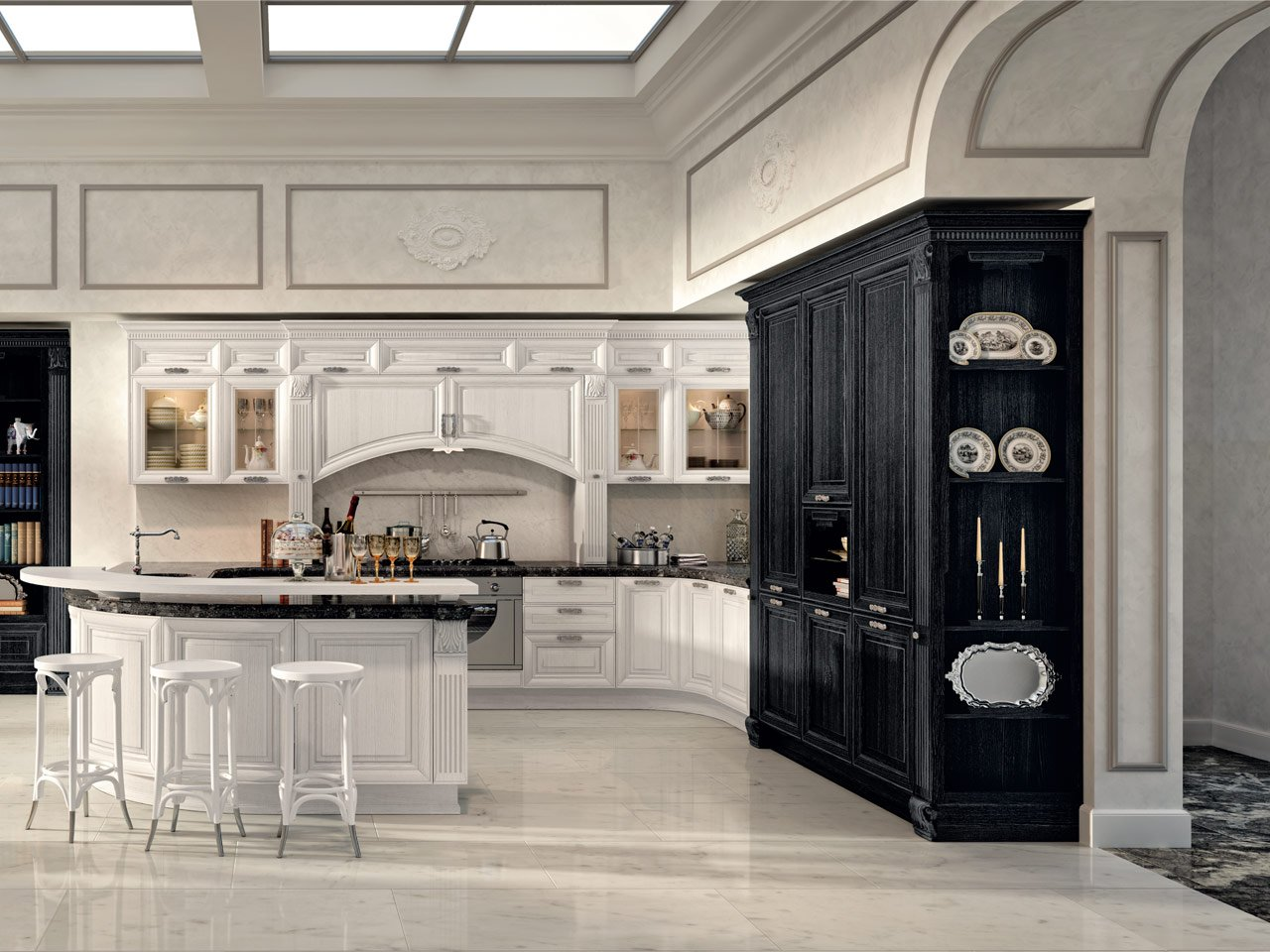 pantheon kitchen by cucine lube. Black Bedroom Furniture Sets. Home Design Ideas